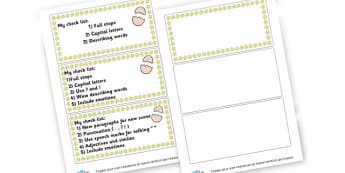 Year 2 success criteria - display lettering - Writing Instructions Primary Resources, page borders, frames