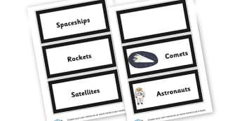 Table Space Quest Labels - Space Group Signs Primary Resources,  Group Sign, Classroom, Space