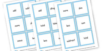 Maths Word Cards - Maths Aids, resource, Education, Home School, Math Games, number