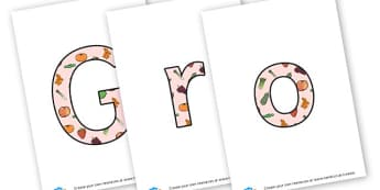 Growing - Display Lettering - display lettering - Display, Gardening Clubs, Extra Curricular, Primary Resources