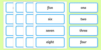 Numbers 1-20 in words - Reception Word Cards Primary Resources, card, maths, numbers