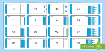 Numbers 1-100 with Dienes Loop Cards - Numbers 1-100 with Dienes Loop Cards - numbers, 1-100, loop cards, dienes,numbes,nubers,diennes,base