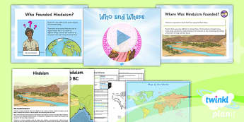 PlanIt - RE Year 3 - Hinduism Lesson 1: Who and Where Lesson Pack - hindu, hinduism, founder, India, Indus