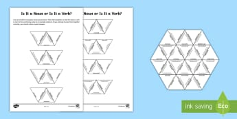 Is It a Noun or Is It a Verb? Tarsia Puzzle - SATs Survival Materials Year 6, SATs, assessment, 2017, English, SPaG, GPS, grammar, punctuation, sp