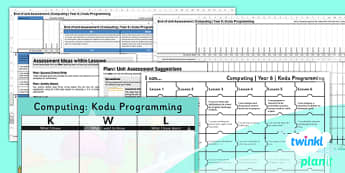 Computing: Kodu Programming Year 6 Unit Assessment Pack