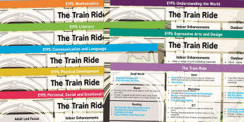 EYFS Lesson Plan and Enhancement Ideas to Support Teaching on The Train Ride - train ride, stories, idea