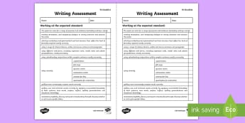 Y6 Writing Assessment Checklist - English, writing, assessment, text types, Australia
