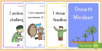 Growth Mindset Statement Posters Display Posters - growth, growth mindset, emotional health, personal growth, mental health