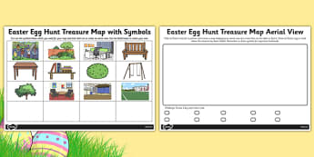 Easter Egg Hunt Treasure Map Aerial View - easter, hunt, aerial