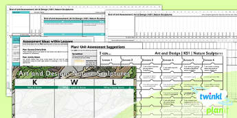 Art: Nature Sculptures KS1 Unit Assessment Pack