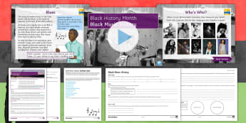Black Music History Lesson Pack - Jazz, Blues, Hip-Hip, Lead Belly, Bessie Smith, Charlie Parker, Billie Holliday, Leadbelly, Jimi Hen
