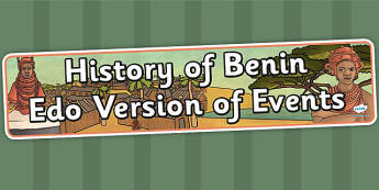 History of Benin Edo Version of Events Display Banner - header