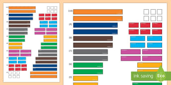 Fraction Rods Cut-Outs - fraction rods, fraction bars, fractions, Cuisineire rods, ratio, combinations, activity pack, maths,