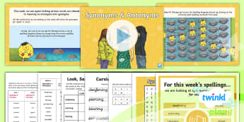 PlanIt Spelling Year 6 Term 3B W4: Volume Synonyms and Antonyms Spelling Pack - Y6, spag, synonyms, antonyms, gps, lists, words,