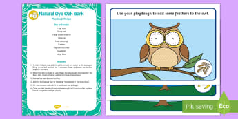 Owl-Themed Playdough Recipe and Mat Pack - EYFS Owlets, Owl Babies, Martin Waddell, fine motor skills, animals, woods, forests, birds, owl, owl