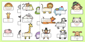 Cute Animals Self Registration - animal, self reg, cute, self-reg