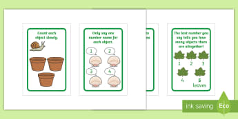Careful Counting Prompts IKEA Tolsby Frame - Mathematics, Number, Counting, Irregular Arrangement of Objects, Nature, Early Years, EYFS, help, ti