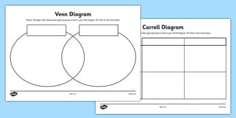 Shapes Grid and Venn Diagram Worksheets - carroll diagram worksheet, venn diagram worksheet, diagrams worksheets, shapes worksheets, ks2