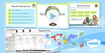 Geography: What a Wonderful World: Round and Round KS1 Lesson Pack 1