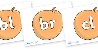 Initial Letter Blends on Giant Peach to Support Teaching on James and the Giant Peach - Initial Letters, initial letter, letter blend, letter blends, consonant, consonants, digraph, trigraph, literacy, alphabet, letters, foundation stage literacy