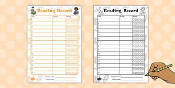 Reading Record - reading, record, reading record, read, books