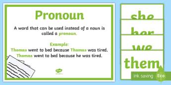 Pronouns Display Cards - pronouns, display, cards, language, examples,Irish