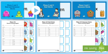 Phases 2 and 3 Phonics Screening Check Resources Support Pack - Phonics Screening Check Resources, Year 1, letters and sounds, phonics check, decoding, nonsense wor