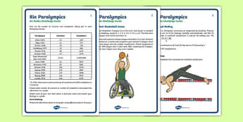 UKS2 Rio Paralympics Maths Challenge Cards