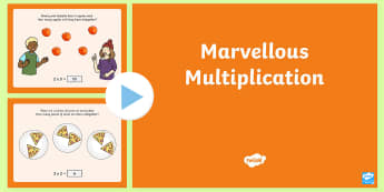 Marvellous Multiplication PowerPoint - KS1 Maths, multiply, multiplication, times, lots of, groups of, more, count, two, five, ten, times t