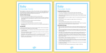 Baby Massage Guide - Baby, massage, newborn, baby massage, guide