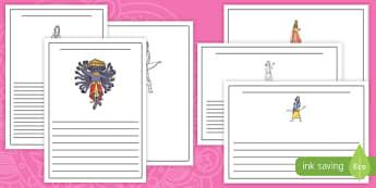 Diwali Character Writing Frames