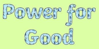 Anti Bullying Week Superhero 'Power for Good' Display Lettering
