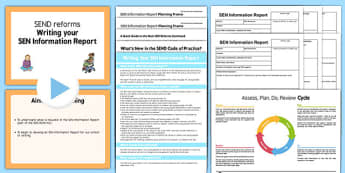 Writing Your SEN Information Report Training Pack Secondary - writing, sen, information, report, training, pack, secondary