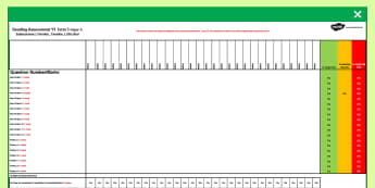 Year 1 Reading Assessment Term 3 Spreadsheet - formative, summative, diagnostic, excel, assess, monitor, progress, ks1, year 1, y1