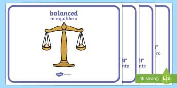 Weight Comparison Display Posters English/Italian - Weight Comparison Display Posters - Weight, weights, balance, balanced, weighing, scales, weighing s