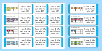 Partitioning Ten With Ten Frames Loop Cards - CfE Addition with Number Frames, maths numeracy intervention, Number Counts, Ten, Addition, Counting