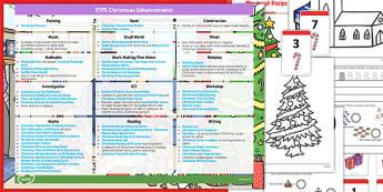EYFS Christmas Themed Enhancement Ideas and Resources Pack - christmas, eyfs, enhancement, ideas