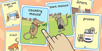 The Town Mouse and the Country Mouse Display Posters - display