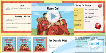 PlanIt Y5 Addition and Subtraction Lesson Pack Mental Calculations (3) - addition, add, subtract, subtraction, mental, mentally, mental calculations, strategy, compensation, partitioning, near doubles, game, differentiated
