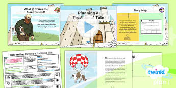 Plants: Jack and the Beanstalk: Story Writing 2 Y1 Lesson Pack  - Traditional stories, life processes, living things, explanation texts, seed