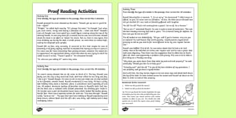 Proof Reading Activities - proof reading, activities, proof, reading
