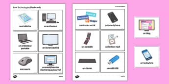 Nouvelles technologies Cartes - french, new technologies, flashcards, technology, new