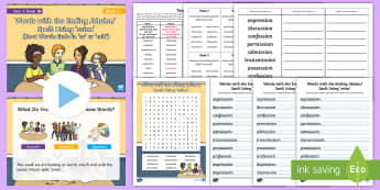 Year 4 Term 1B Week 2 Spelling Pack - Spelling Lists, Word Lists, Autumn Term, List Pack, SPaG