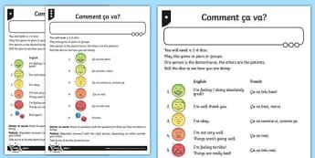 French How are You Game - french, how are you, game, activity