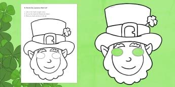 St. Patrick's Day Leprechaun Mask Craft - St. Patrick's Day, leprechaun, mask