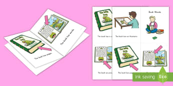 Book Words Emergent Reader - emergent reader, emergent readers, emergent reading books, emergent reading texts, sight word reader