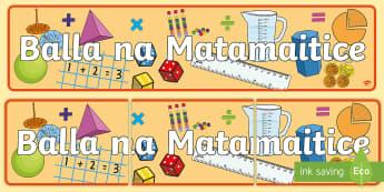 Meirge Taispeána: Balla Mata Display Banner - Bainistiú Ranga, Classroom Management, Bainistiú Iompair, Behaviour Management, Áiseanna Amhairc,