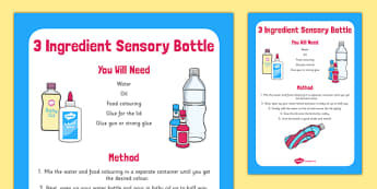3 Ingredient Sensory Bottle - 3 ingredient, sensory bottle, sensory, bottle, eyfs, early years