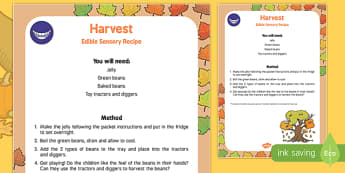 Harvest Edible Sensory Recipe