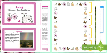 Spring Discovery Sack - EYFS, Early Years, KS1, Key Stage 1, seasons, baby animals, April showers, Easter